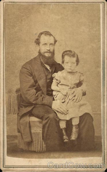 Portrait of Father and Child Family Portaits