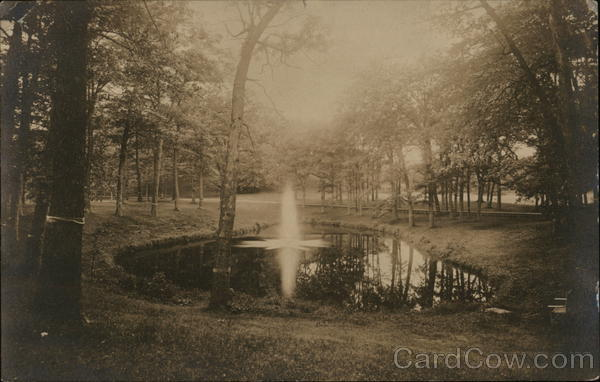 Fountain in Park Pond Wellesley Massachusetts