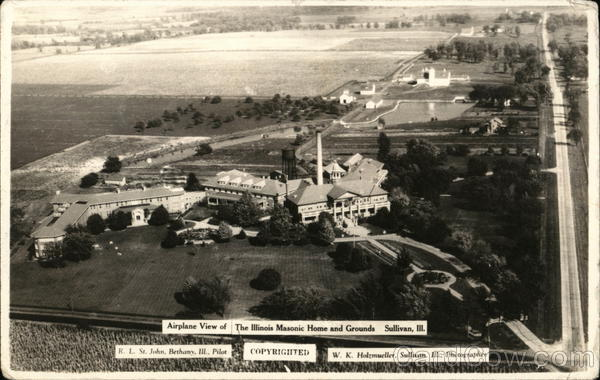 Airplane View of The Illinois Masonic Home and Grounds Sullivan
