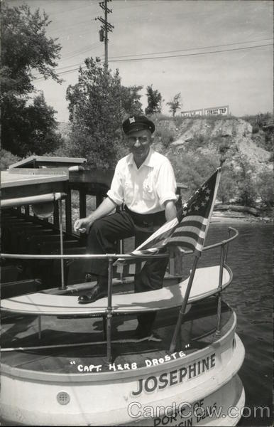 Capt. Herb Droste of the Josephine Wisconsin Dells