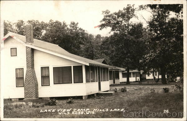Lake View Camp, Hill's Lake Wild Rose Wisconsin