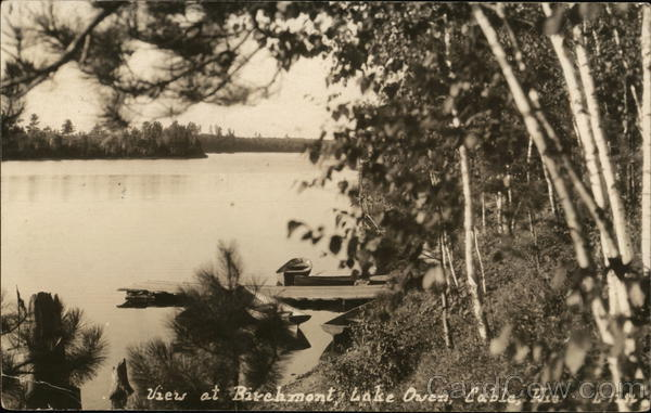 View at Birchmont, Lake Owen Cable Wisconsin