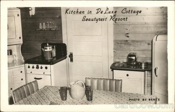 Kitchen in Deluxe Cottage-Beautyrest Resort Cable Wisconsin