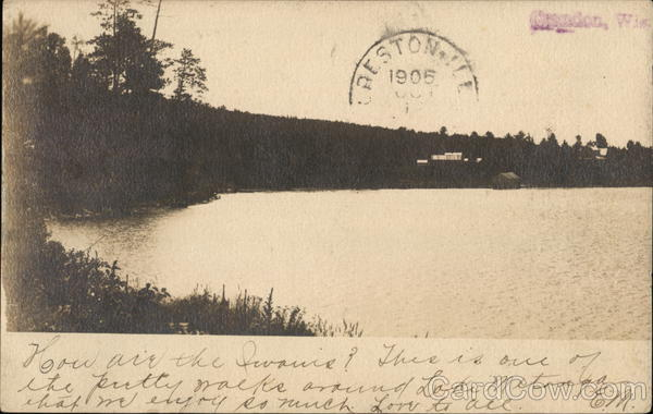 View of Lake Metonga Crandon Wisconsin