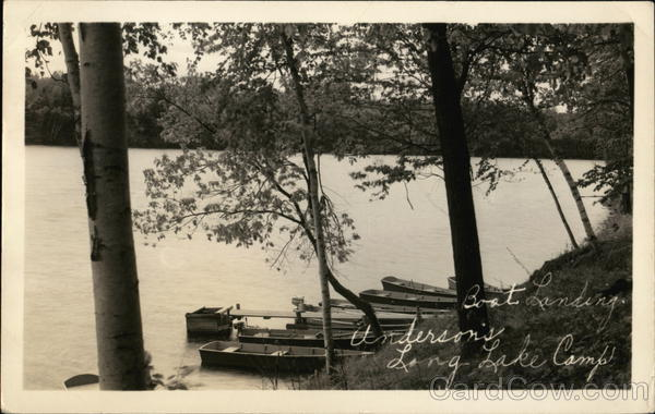 Boat Landing, Underson's Long Lake Camp Sheboygan Wisconsin