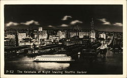 The Kalakala at Night Leaving Seattle Harbor Postcard