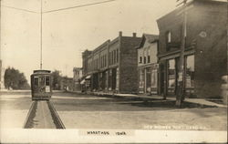 View of Town and Streetcar