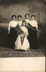 Female Normal School Students 1909, 1910