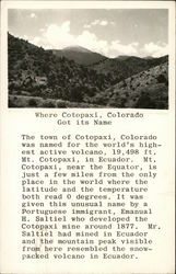 Where Cotopaxi Got It's Name