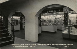 The Cellar Gift Shop, Federated Department Store Postcard