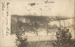 View of Valley in Snow