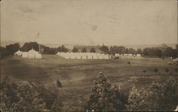 Field of White Tents