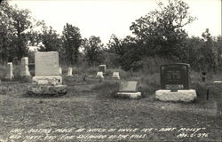 Last Resting Place at Notch of Uncle Ike, Aunt Molly, Old Mike and the Shepherd of the Hills