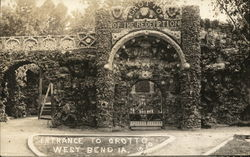 Entrance to Grotto Postcard