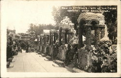 Row of Stations, Way of the Cross Grotto Postcard