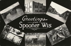 Greetings from Spooner Wis.