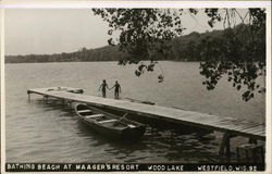 Bathing Beach at Maager's Resort, Wood Lake