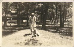 Woman & Dog in Edward's Park, Lake Waubesa