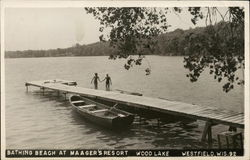 Bathing Beach at Waager's Resort, Wood Lake