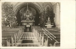 Christmas Decoration, Interior, St. Augustine's Church