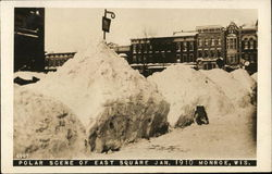 Polar Scene of East Square Jan 1910 Postcard
