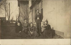 Snapshot of Family Postcard