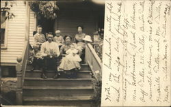 Snapshot of Family on Steps