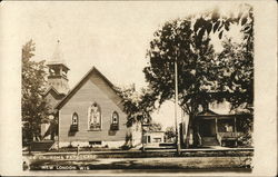 Church and parsonage Postcard