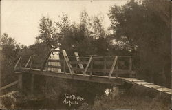 People on Foot Bridge