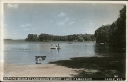 Bathing Beach at Lakewoods Resort, Lake Namakagon