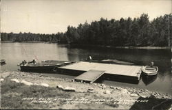 Boat Dock at Chip-a-Flo Lodge on the Chippiwa Flowage