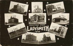 Greetings from Ladysmith, Wis. Postcard