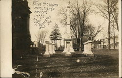 First Soldiers Monuments erected in the US