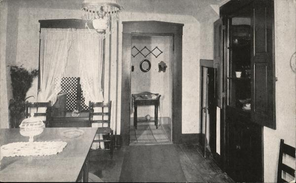 James Whitcomb Riley Home - Dining Room showing Cubby Hole Greenfield Indiana