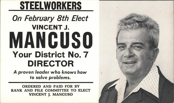 Steelworks Elect Vincent J. Mancuso, Dist. 7 Director