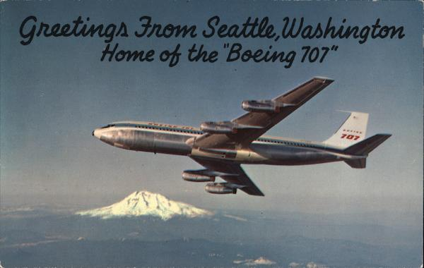 Greetings From Seattle, Washington Aircraft
