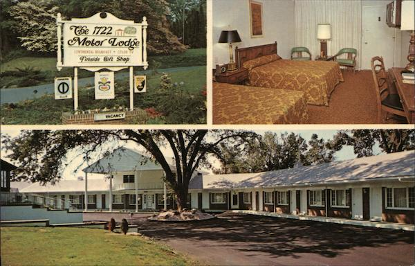 The 1722 Motor Lodge Lancaster Pennsylvania