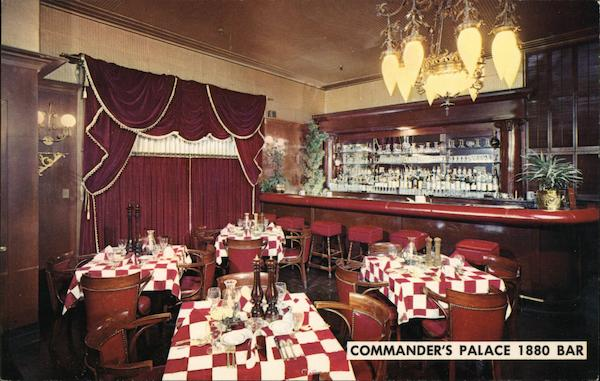 1880 Bar of Commander's Palace New Orleans Louisiana