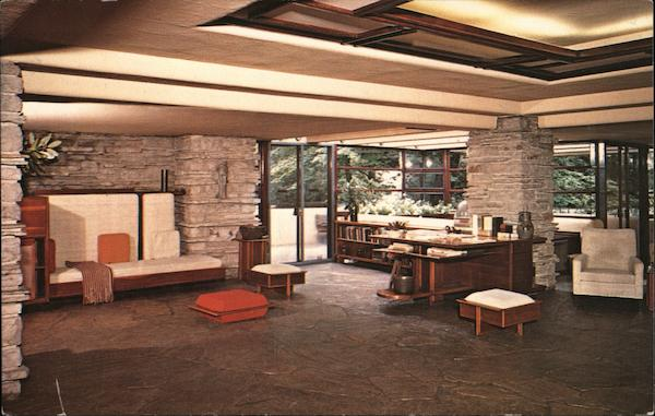 Fallingwater Living Room Mill Run Pennsylvania W. Galen Barton