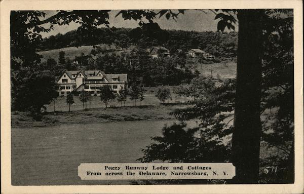 Peggy Runway Lodge and Cottages, From Across the Delaware Narrowsburg New York