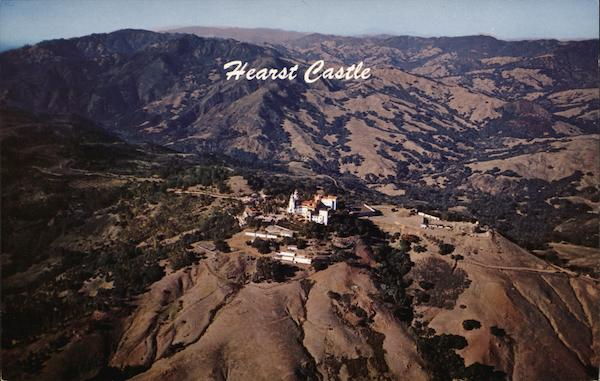 Aerial View of Hearst Castle San Simeon California