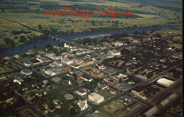 Aerial View Red Bluff California
