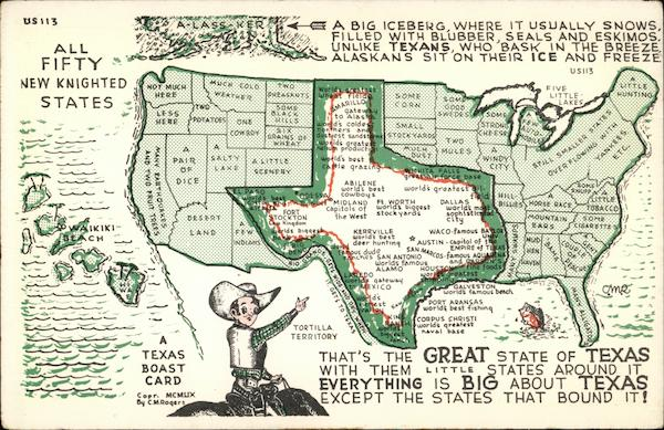 All Fifty Newly Knighted States Texas Maps