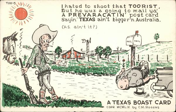 A Texas Boast Card Comic, Funny