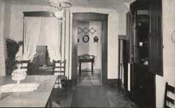 James Whitcomb Riley Home - Dining Room showing Cubby Hole Postcard