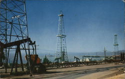 Oil Derricks and Island, Ventura County