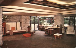 Fallingwater Living Room Postcard