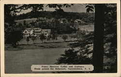Peggy Runway Lodge and Cottages, From Across the Delaware