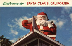 Statue of Santa Claus Postcard