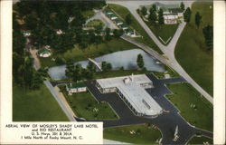 Aerial View of Mosley's Shady Lake Motel and Rio Restaurant